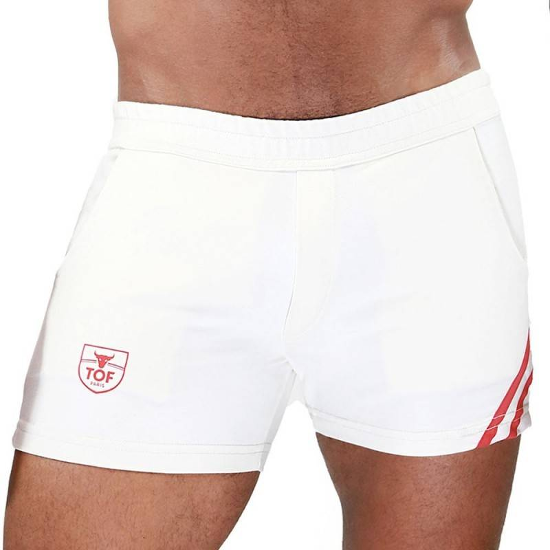 TOF Paris Short Paris Blanc - Rouge