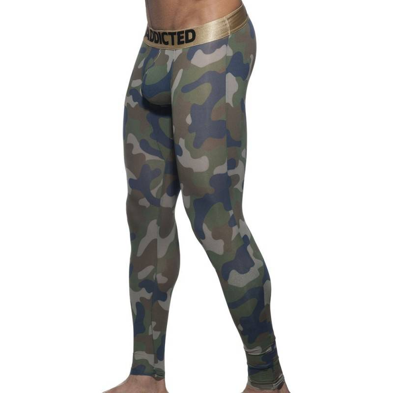 Addicted Caleçon Long Camo Kaki