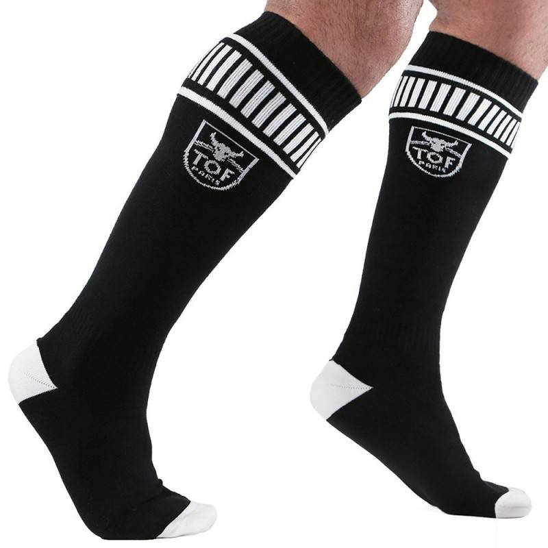 TOF Paris Football Socks - Black - White
