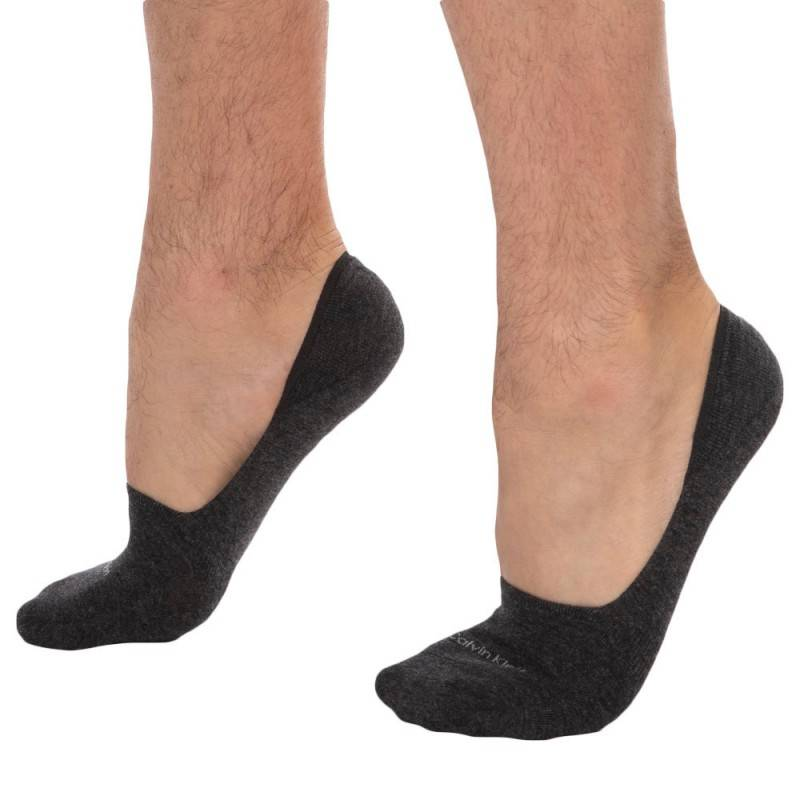Calvin Klein 2-Pack Luca Invisible Socks -  Light Grey - Charcoal