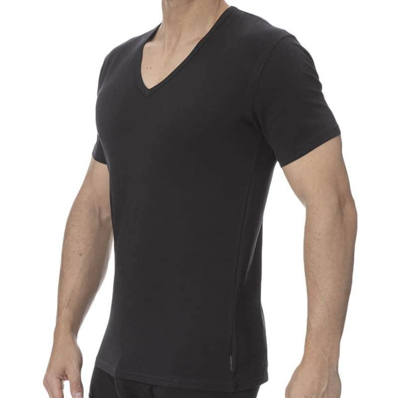Calvin Klein Lot de 2 T-Shirts Modern Cotton Stretch Noirs