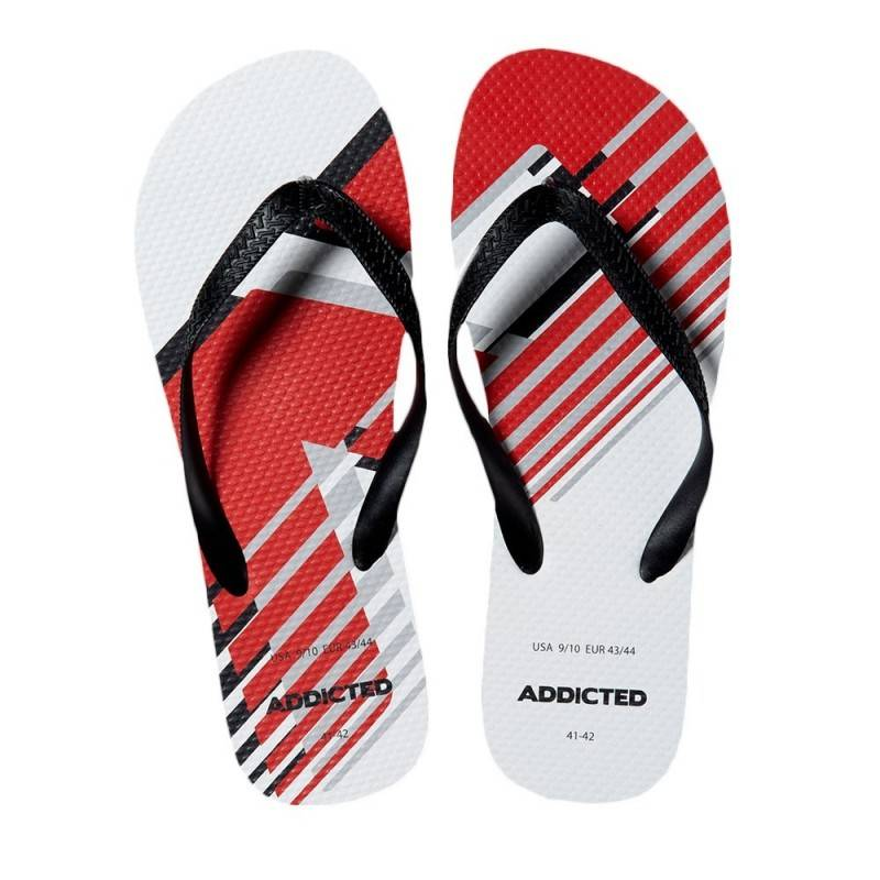 Addicted Tongs AD Logo Blanches