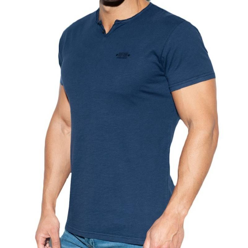 ES Collection T-Shirt Washed Marine