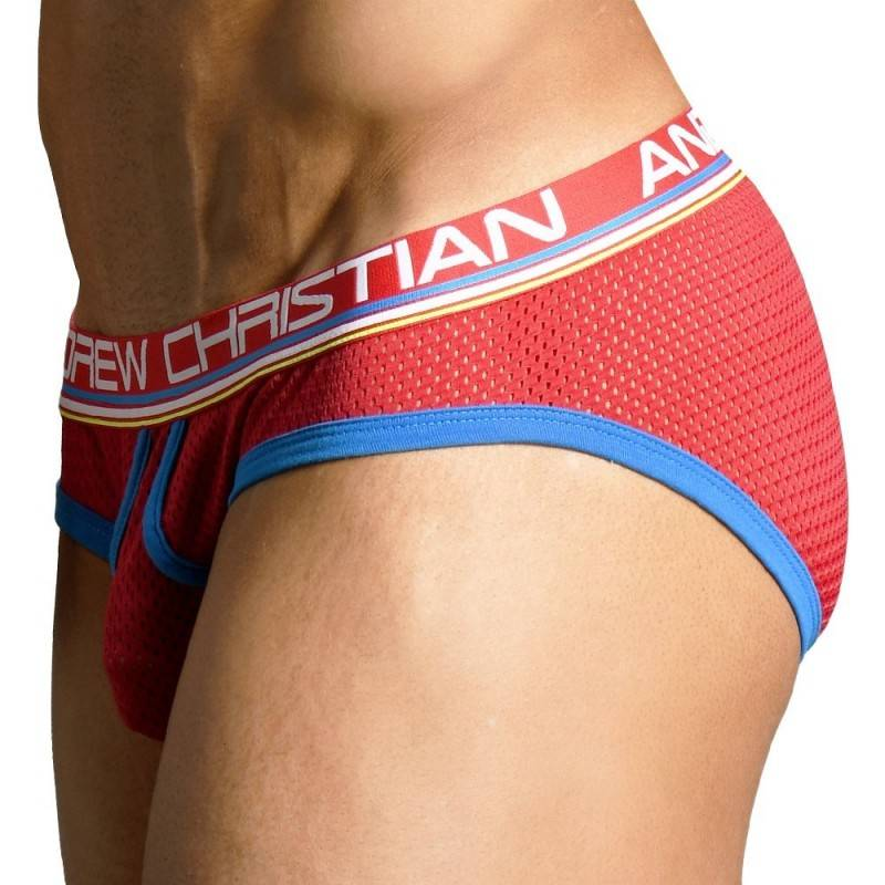 Andrew Christian Slip Retro Mesh Almost Naked Rouge