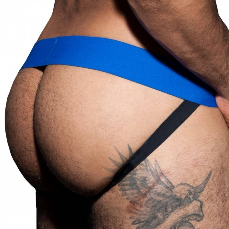 AD Fetish Double Jock Strap Cockring Royal