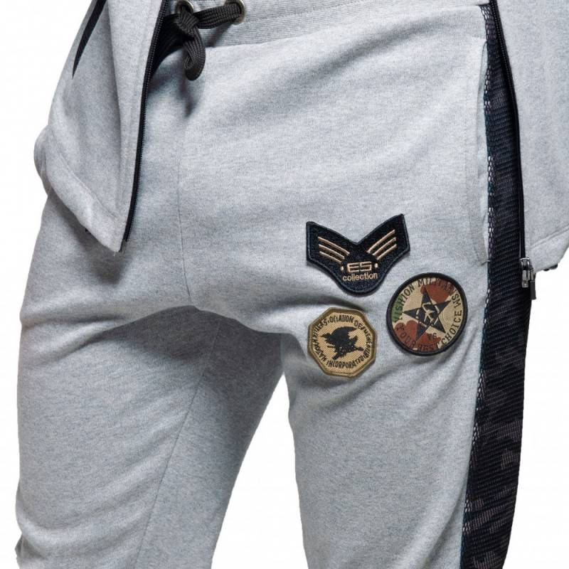 ES Collection Army Padded Sport Pants - Grey