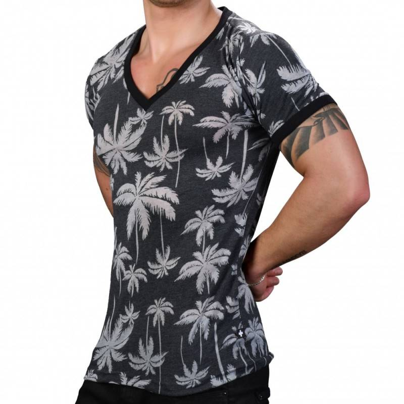 Andrew Christian Palm Burnout T-Shirt