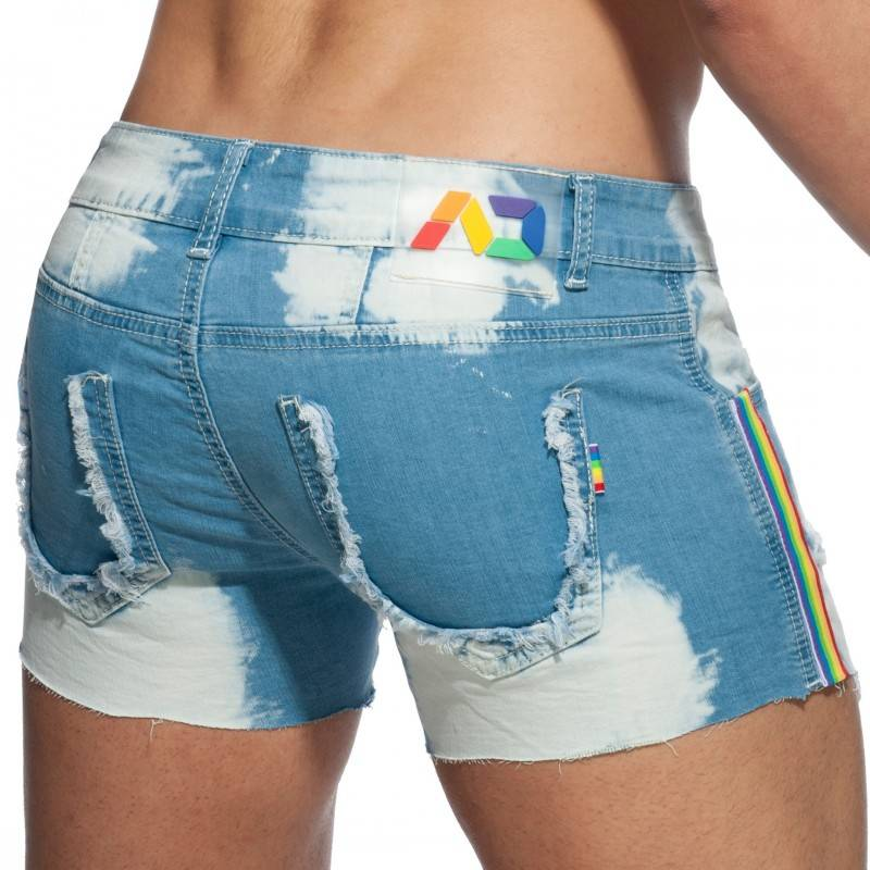 Addicted Short en Jeans Pride Bleu Indigo