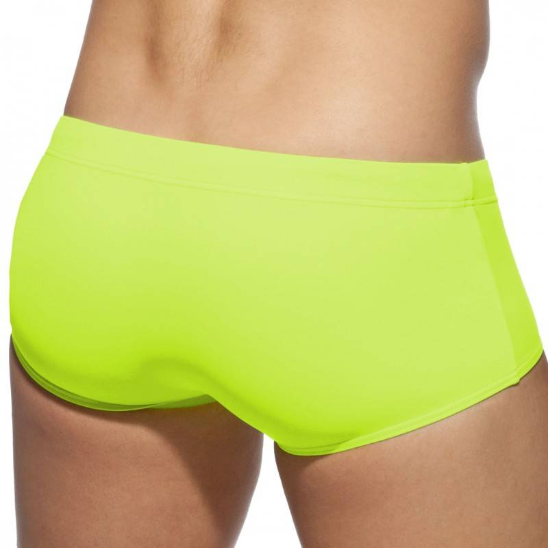 Addicted Shorty de Bain Basic Colors Jaune Fluo