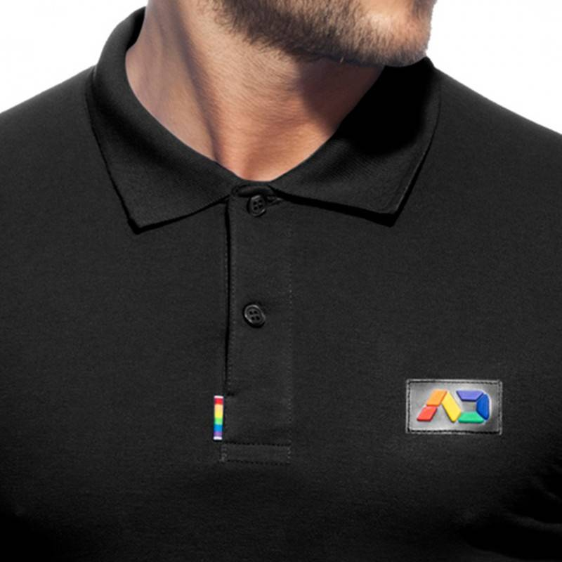 Addicted Polo Rainbow Coton Noir
