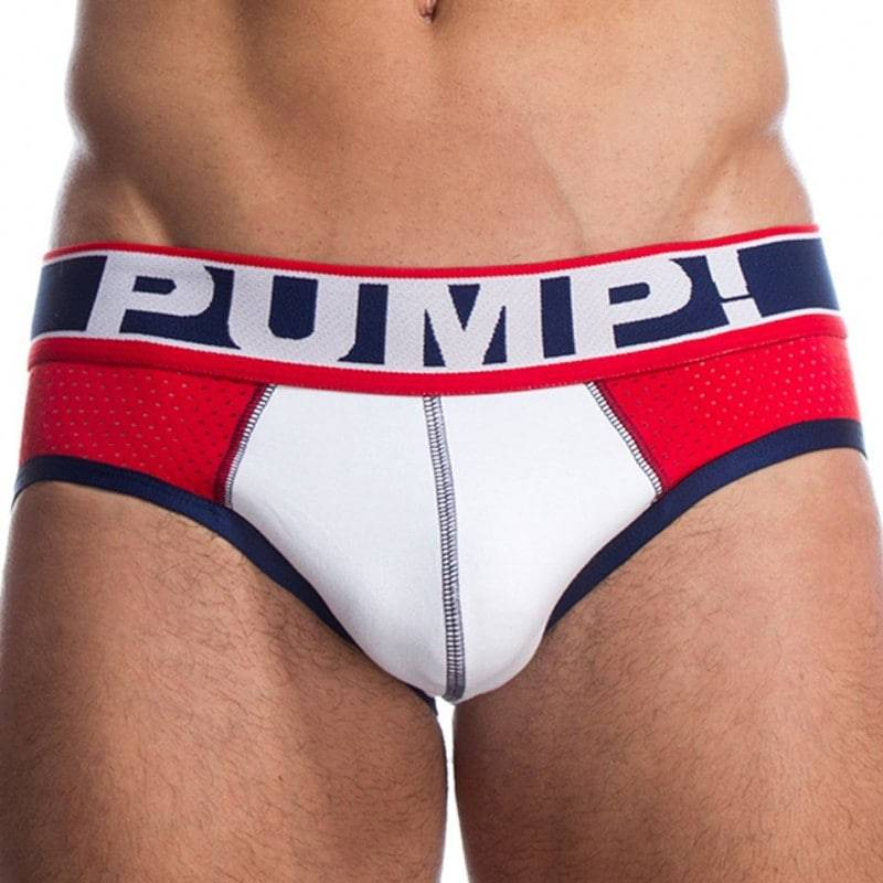 Pump! Slip Touchdown Fever Rouge - Blanc