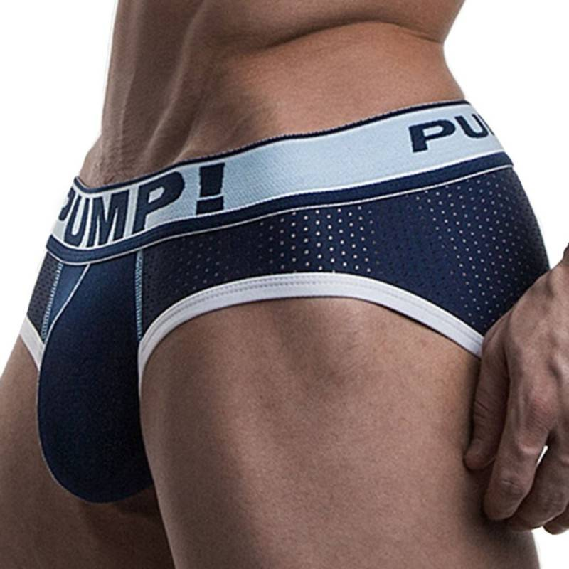 Pump! Blue Steel Brief - Navy