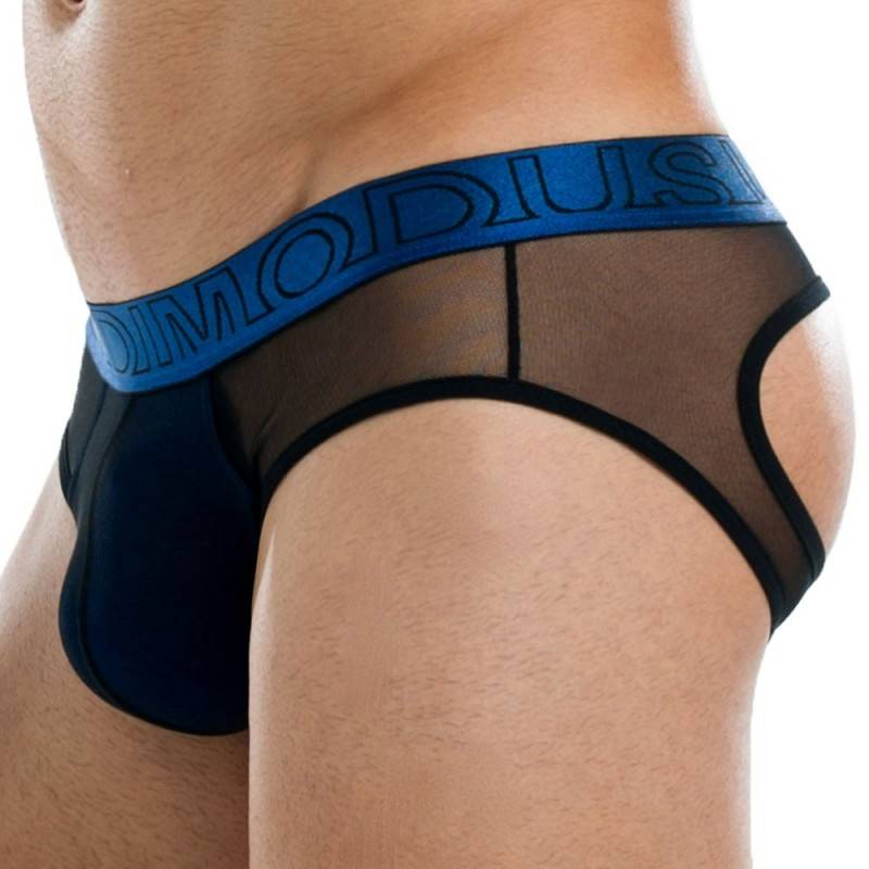 Slip Bottomless Transparent Bleu