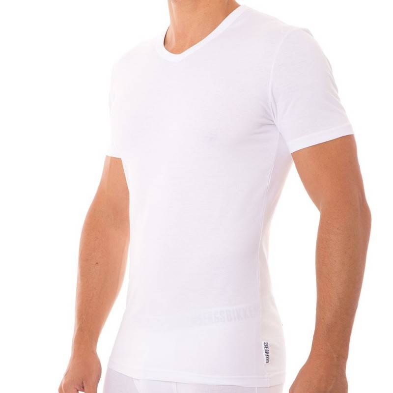Bikkembergs T-Shirt Stretch Cotton Blanc