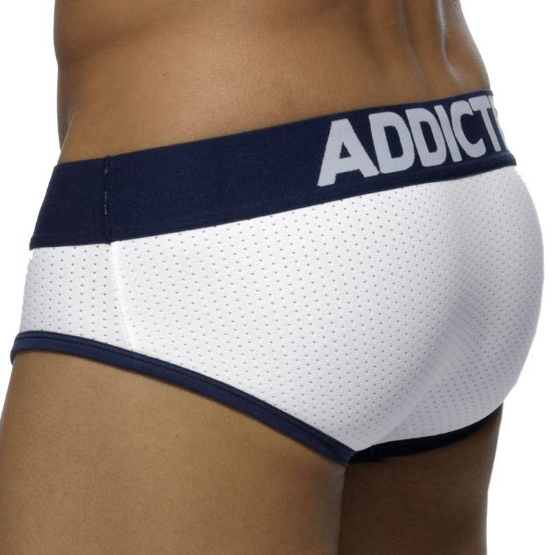 Addicted Slip Contrasted Mesh Blanc