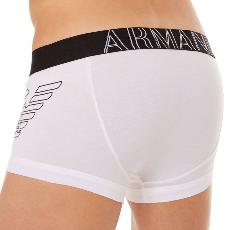 Emporio Armani Boxer Stretch Cotton Eagle Blanc