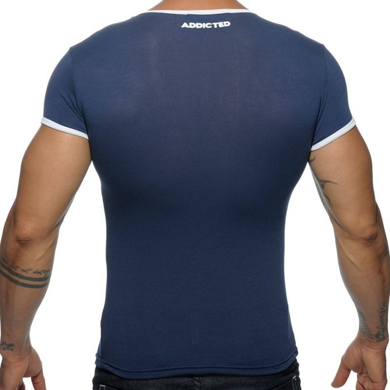 Addicted T-Shirt Basic Colors Marine