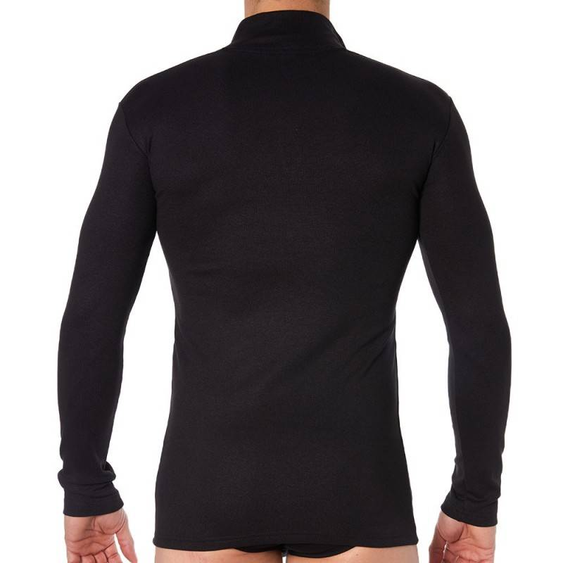 Doreanse T-Shirt Thermal Zip Noir