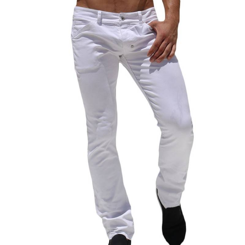 Rufskin Pantalon Jeans Major Blanc