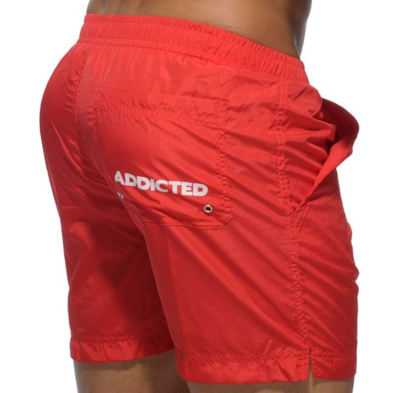 Addicted Short de Bain Long Basic Rouge
