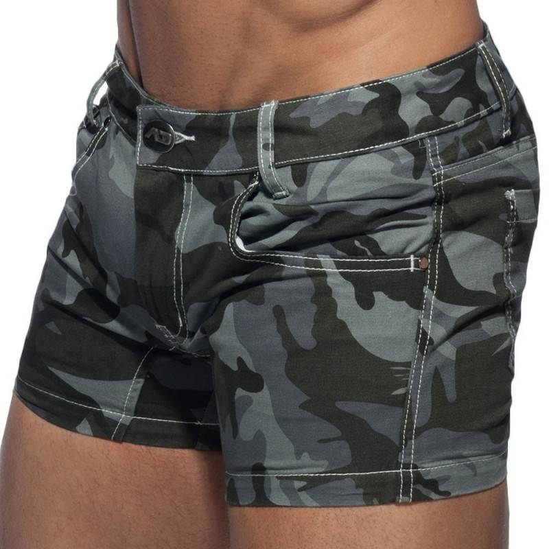 Addicted Short Twill Camouflage Gris