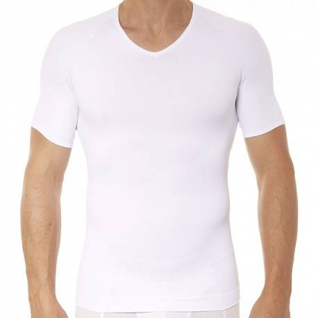 Spanx T-Shirt Zoned Performance Col V Blanc