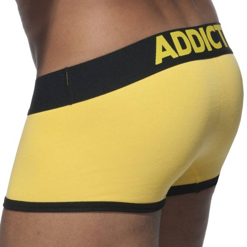 Addicted Shorty Court Basic Colors Coton Jaune - Noir