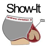 Show-It Boxer Court CoolFlex Modal Active Show-It Gris Chiné